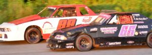 Mini Stocks racing at Galesburg Speedway