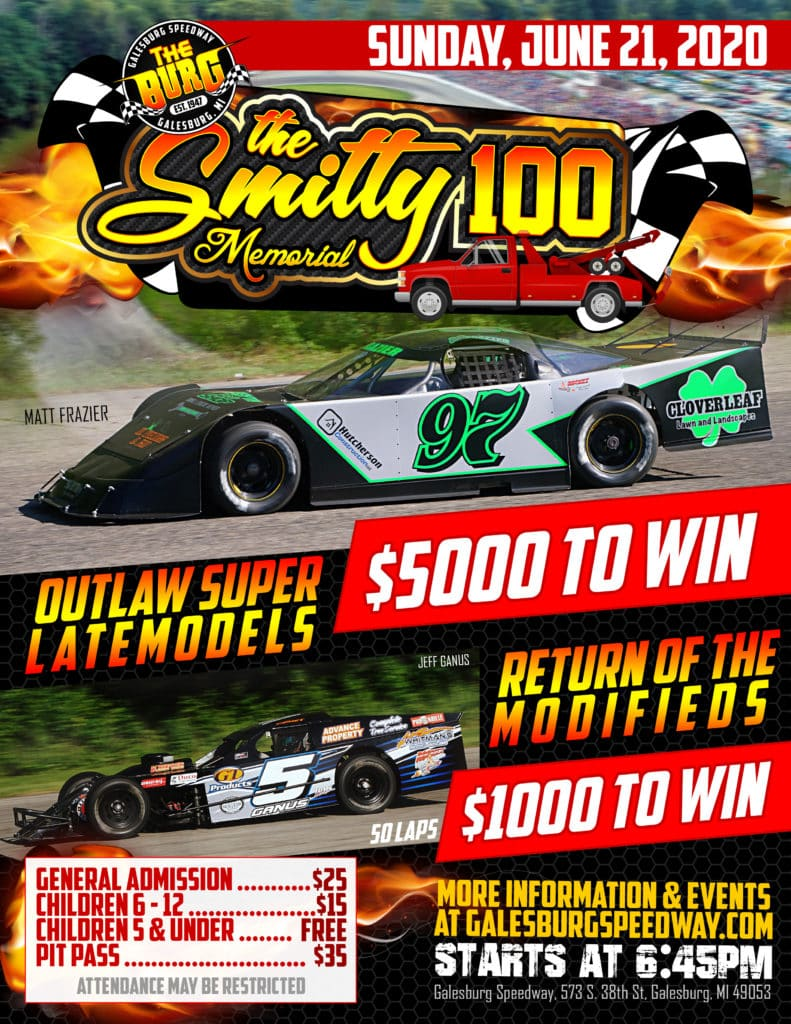 2020 Smitty Memorial 100 - Event Flyer