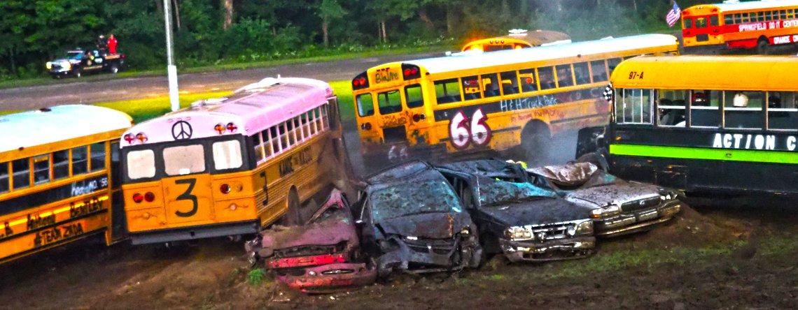 School Bus Figure Eight